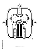 Robot Mask to Color Printable Mask